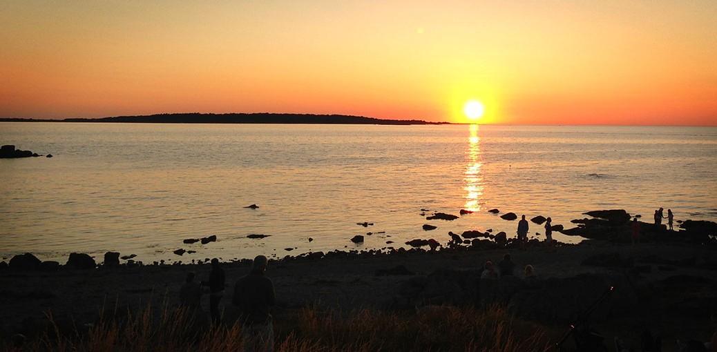 Solnedgång vid Hallands Väderö
